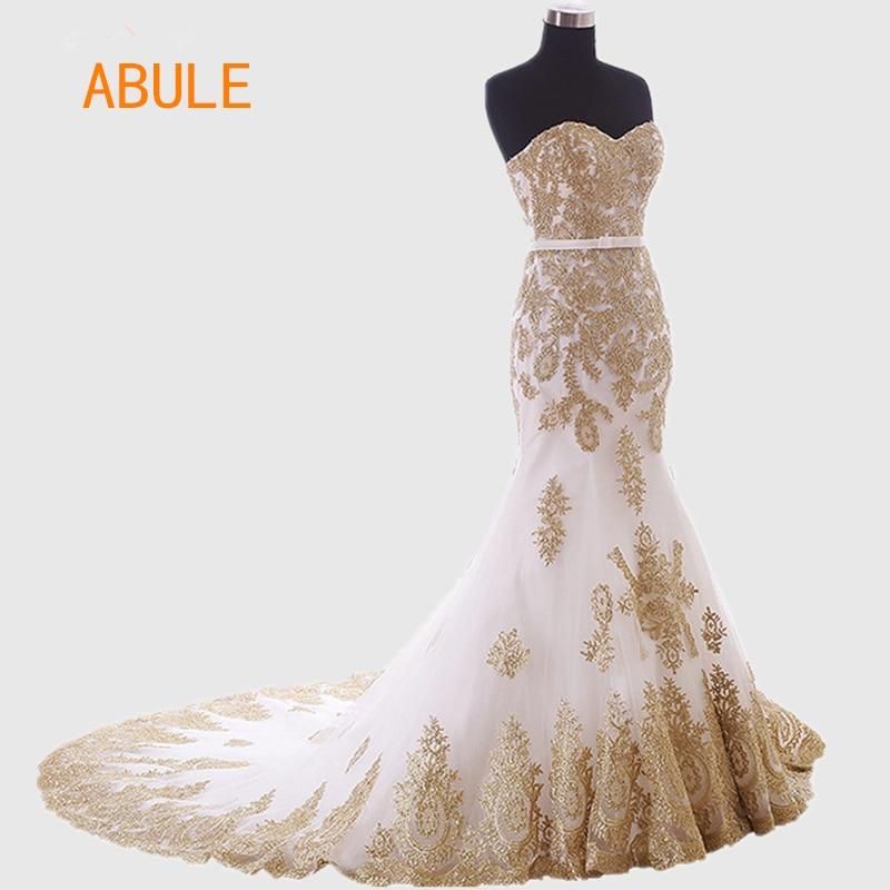 abule hot Vestido De Noiva 2016 Estilo Africano Blanco Rebordear Con - Vestidos de novia