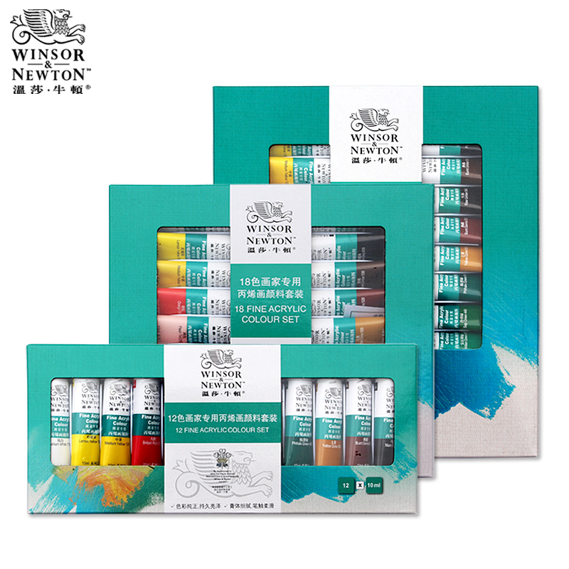 18/24 Colors Winsor Newton Acrylic paint set acrylic paint for Painting Fabric Textile nail glass Drawing for Artist Acuarelas