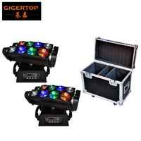Freeshipping 4pcs Lot LED Moving Head Beam 8 Eyes Light 8 10W RGBW LED Spider Moving
