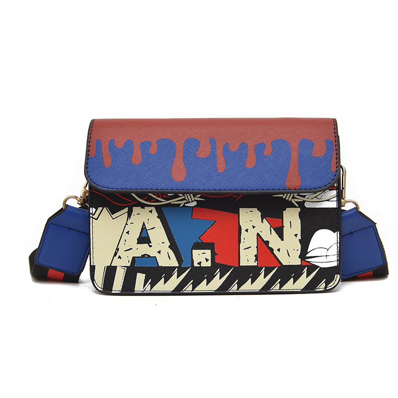 Printing Pattern Women Crossbody Bag Fashion PU Leather Women Casual High Quality Shoulder Bag Fashion Female Handbag