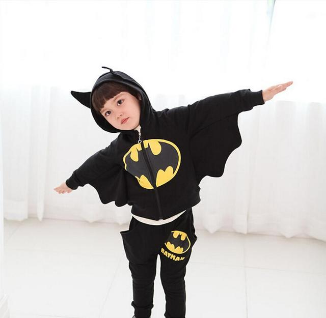 Batman Children Boys Clothing set Baby Boy Batman Sports Suits 3-8 Years Kids 2pcs Sets Spring Autumn Clothes Tracksuits