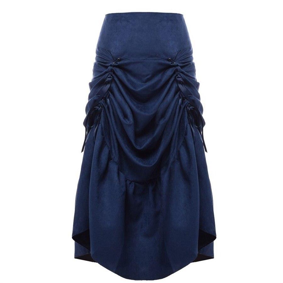 Vintage Steampunk svārki sievietēm melni brūns gotiskā roka - Sieviešu apģērbs