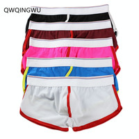 5PCS/Lot Wholesale Sexy Underwear Men Boxers Shorts Colorful Breathable Hole Ropa Interior Bokser Homme Underpants Boxers Trunks