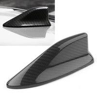 Black Real Carbon Fiber Shark Fin Antenna Cover Cap Trim For Subaru BRZ For Toyota 86 56