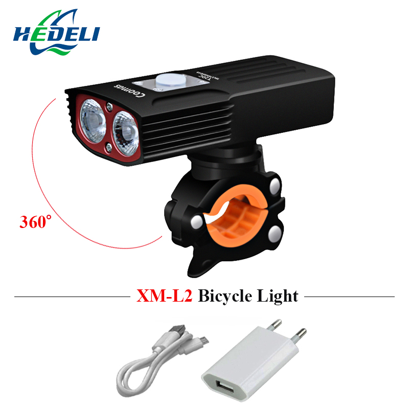 dual light source usb headlight bike light xm l2 led bicycle light headlamp 5200mah flashlight luces bicicleta waterproof lamp 12v led light auto headlamp h1 h3 h7 9005 9004 9007 h4 h15 car led headlight bulb 30w high single dual beam white light
