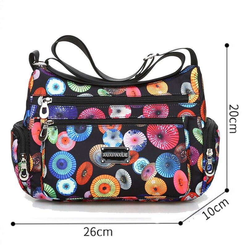National Floral Pattern Women Crossbody Bag High Quality Waterproof Nylon Shoulder Bag Fashion Multi-pocket Women Messenger Bag 3