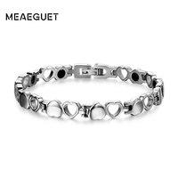 Healthy Magnetic Bracelet Men Woman Heart Design 316L Stainless Steel Health Care Elements Bracelet Hand Chain