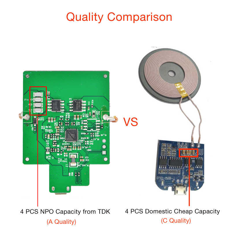 5W Qi Wireless Charging Module Transmitter PCBA Circuit Board Coil Wireless  Charging DIY for iPhone 8 Plus X XR XS A Quality