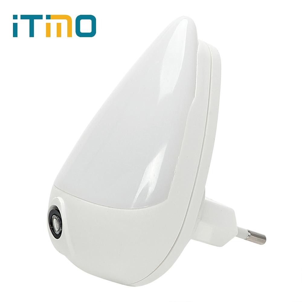 ITimo Water Drops LED Night Light 1W EU Plug 90 Degree Rotation Smart Light Sensor Wall Socket Lamp For Children Bedroom Lampada