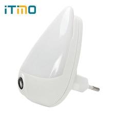 960826e3d8df1 ITimo gouttes d'eau LED veilleuse 1 W EU prise 90 degrés Rotation  intelligente capteur de lumière prise murale lampe pour enfant.