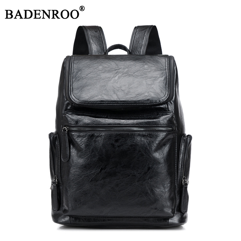 Computer Bag 15.6 Inch Laptop PU Leather Backpacks for Men New 2018 rucksacks High Quality Youth Travel bagpack School Book Bag
