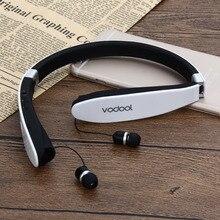 1 Pcs Vodool Pliable Bluetooth4.0 Écouteur Sans Fil Stéréo HD Réduction Du Bruit de Voix Mains Libres In-Ear Casque pour Smartphone DO # S