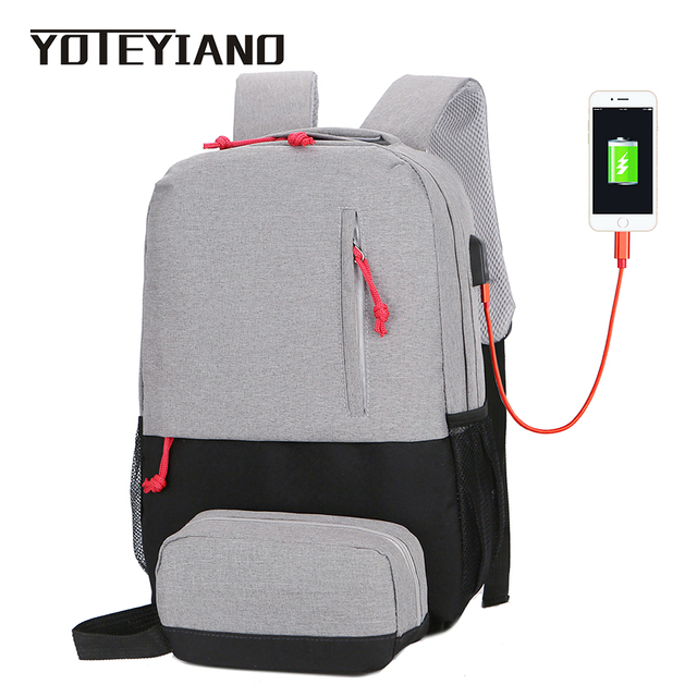 b554a39e1ae4 YOTEYIANO School Bags for Girls and Boys Large Capacity Waterproof Nylon Backpack  Womens Rucksack Mens Travel Laptop Packages