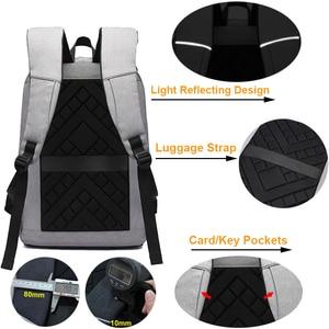 Image 5 - Men laptop backpack Anti theft backpack 15.6 Double USB large capacity backpacks waterproof bagpack men mochila hombre back pack