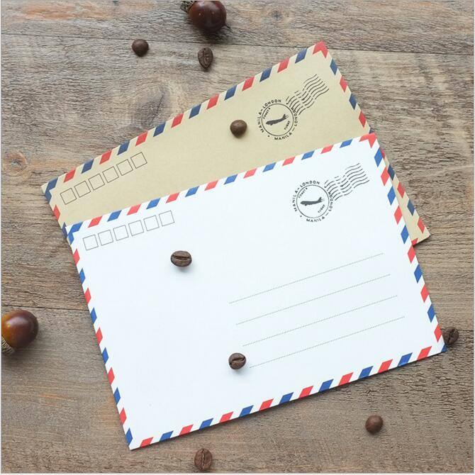 20pcs/lot Retro Business Envelope Letters Papers Greeting Wishes Postcard
