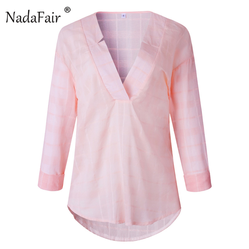 casual v neck shirt women01_