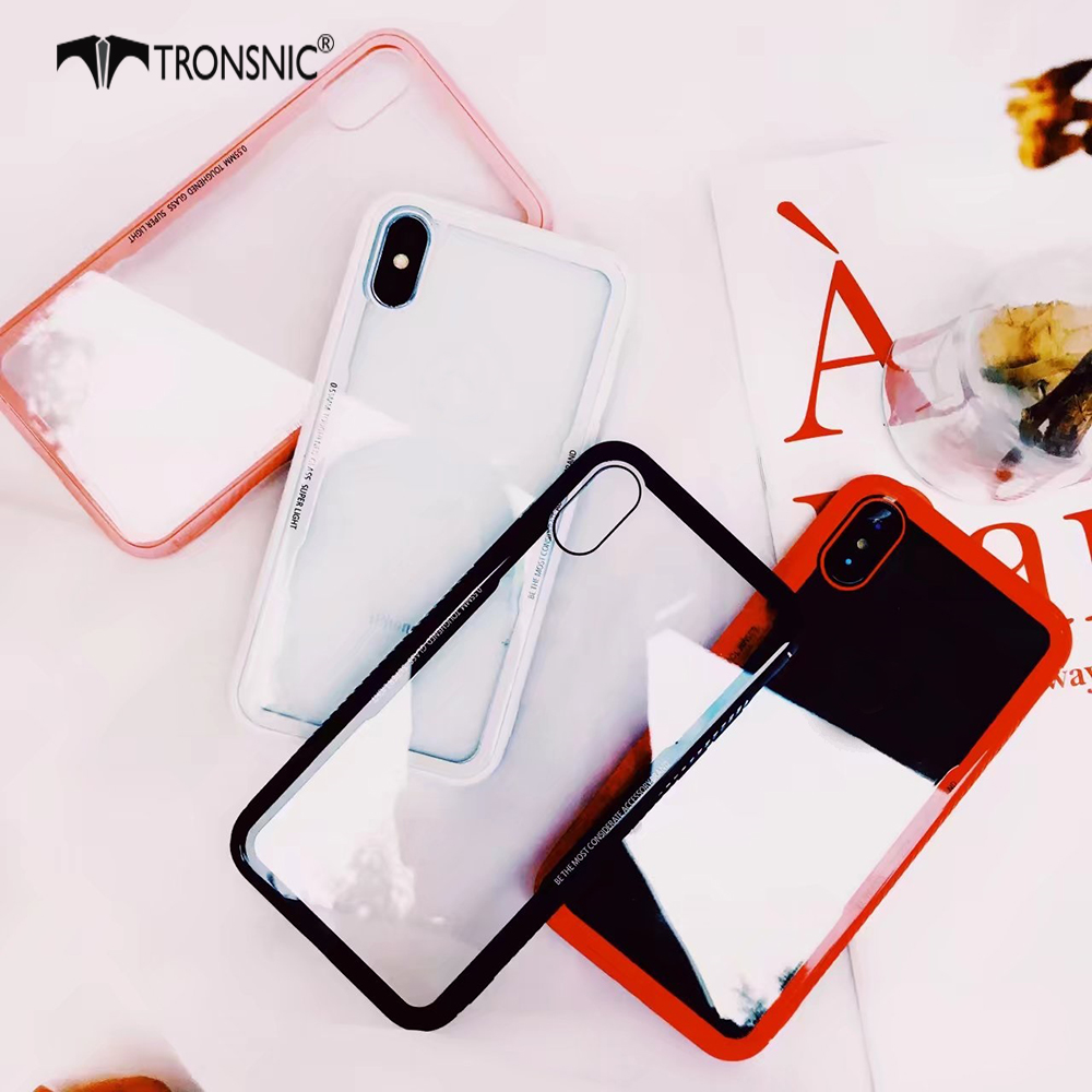 Tronsnic Glass Phone Case For Iphone X Q Light Transparent Case For Iphone 6s 6 7 8 Plus White Pink Candy Border Hard Cover Capa Case For Iphone Phone Casescase For Iphone 6s Aliexpress