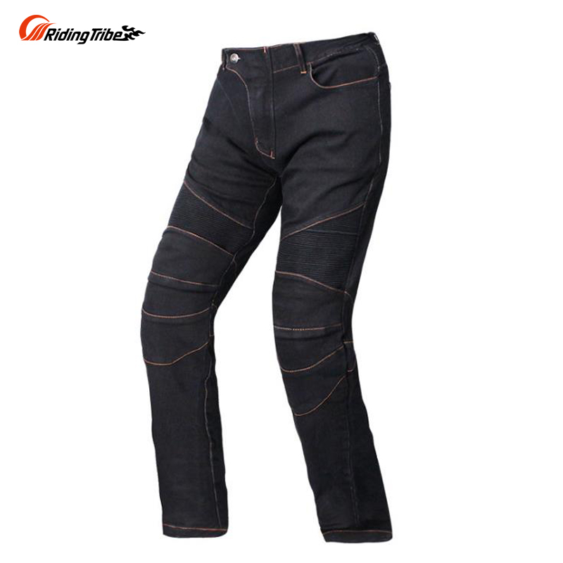 Riding Tribe Jeans Motorcycle Pants Riding On The Road Fall Black Jeans Four Pieces Protection Distribution