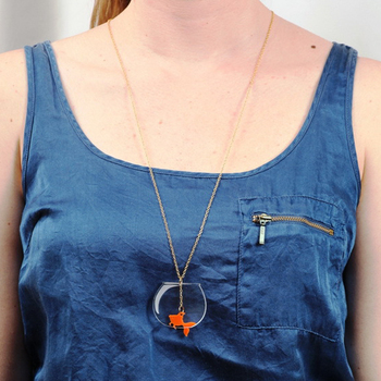 Creative Ffish tank Necklace