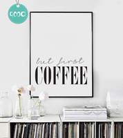 But First Coffee Quote Canvas Art Print Poster Simple Style Wall Pictures For Home Decoration Wall