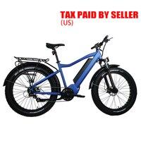 Drop shipping USA/CANADA Electric Bike Powerful Fat Tire Electric Mountain Bike 48V15.6AH 1000W eBike Beach Cruiser Electric Sno