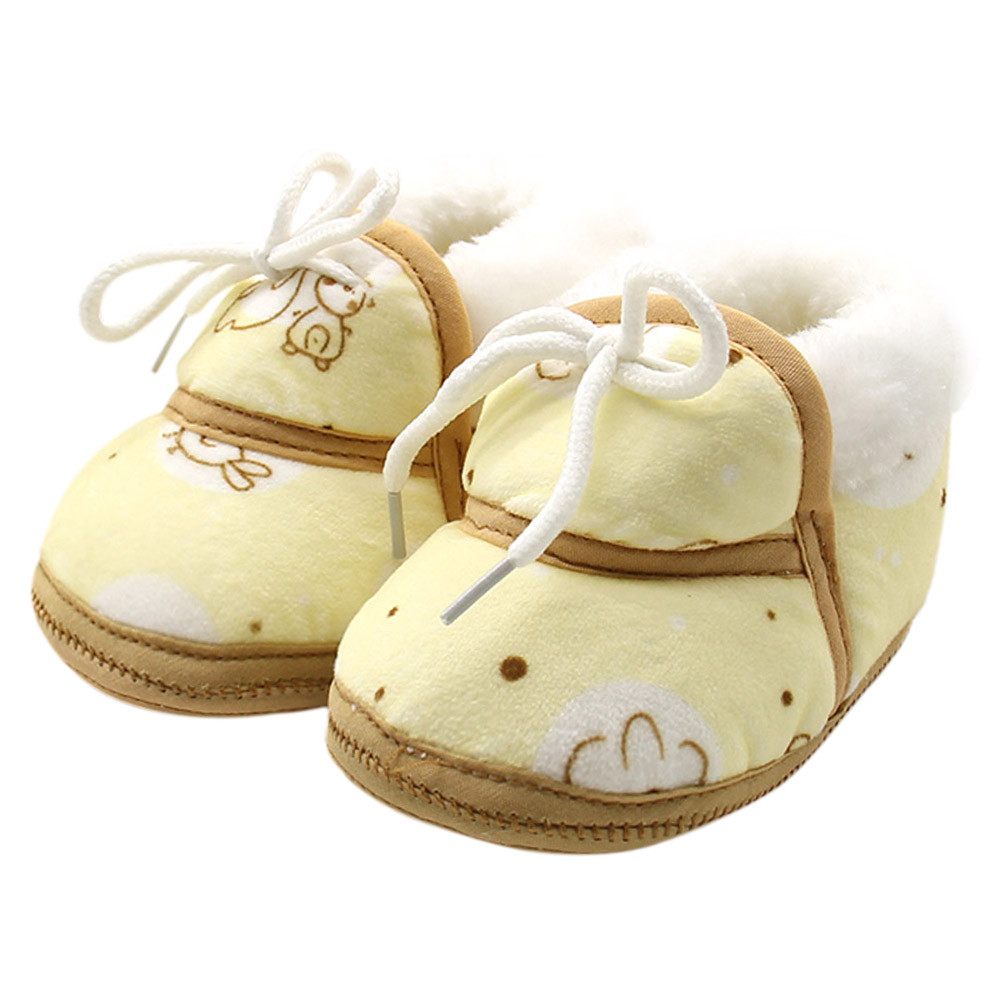 TELOTUNY baby shoes winter booties newborn shoes warm cartoon first walkers anti slip C0419
