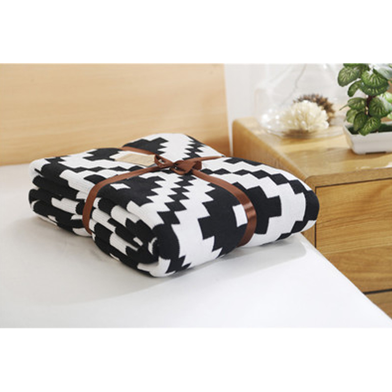 100 Cotton Knitting Wool Blanket Triangular Bbaby