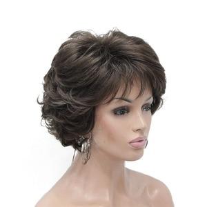 Image 2 - StrongBeauty วิกผมสังเคราะห์สั้น Curly ผมสีบลอนด์/Auburn วิกผมผู้หญิง