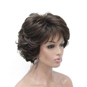 Image 2 - StrongBeauty peluca sintética para mujer, pelo corto rizado, Rubio/Peluca de Auburn