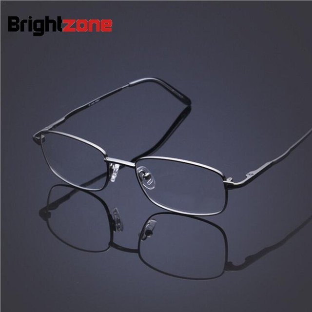 ee6351e6e3c Men s reading glasses equipped with ultra-light myopic lenses memory  titanium flexible glasses prescription spectacle