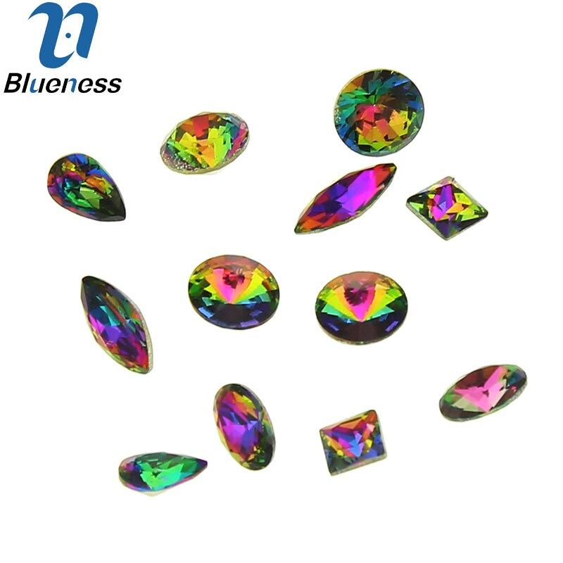 6 wzorów Glitter koła dżetów do paznokci 10 sztuk / styl 60 sztuk - Sztuka zdobienia paznokci - Zdjęcie 5