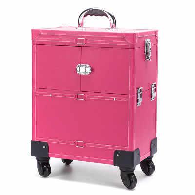 Aluminium Nagel Trolley Gepäck Kosmetische Box Professionelle Make-Up trolley Räder für Zug 4 Arten