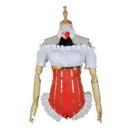 Cosplay Japanese Anime SUPERSONICO Queen Red heart Off Shoulder Jumpsuits Cos Clothes