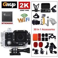 Gitup Git2P WiFi 2K 1080P Full HD Video Professional Helmet HDMI USB Waterproof Action Sports Camera 30 170 degree Wide Angle