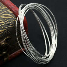 Multilayer Silver Plated Indian Bangles Set Women Simple Cuff Bracelet Ladies Fashion Charm Jewelry Accessories(China)
