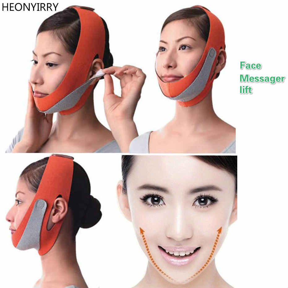 Face Messager Lift Face Mask Slimming Facial Thin Masseter Double Chin Skin Thin Face Bandage Belt Women Face Care Beauty Tools red color silicone face slim lift up belt facial slimming massage band mask personal beauty gift
