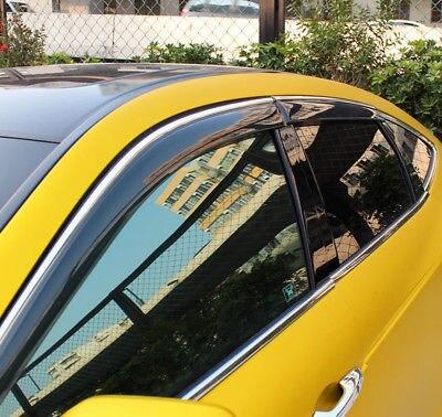 Pencere Visor havalandırma tonları güneş yağmur Guard 4 adet Honda Crosstour 2014 2016 için|Krom Şekillendirici|   -