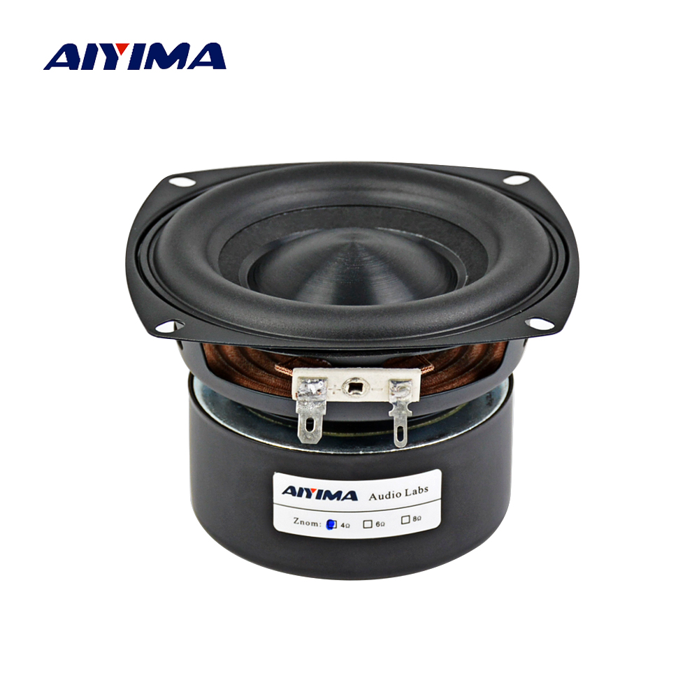 AIYIMA 4Inch Audio Portable Speaker 4/8 Ohm 40W Full Range Bass Speaker Altavoz Portatil Hifi Stereo Speakers DIY Home Theater цена 2017