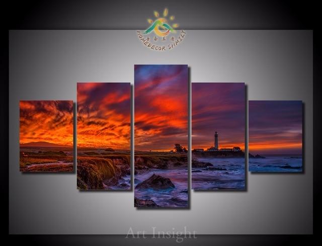 5 Teile Los Taube Punkt Leuchtturm Wand Kunst Gemalde Bild Paiting