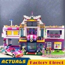 Праздник Вила игровой домик для девочек друг строительные блоки роскошная конструкция розовый кирпич обучающая игрушка совместима