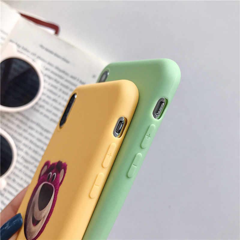 Hygowendly Lotso Toy Story милый мультяшный Телефон чехол для iPhone 6 6s 7 8 Plus конфетный силиконовый чехол из ТПУ для iPhone X XR XS Max Capa
