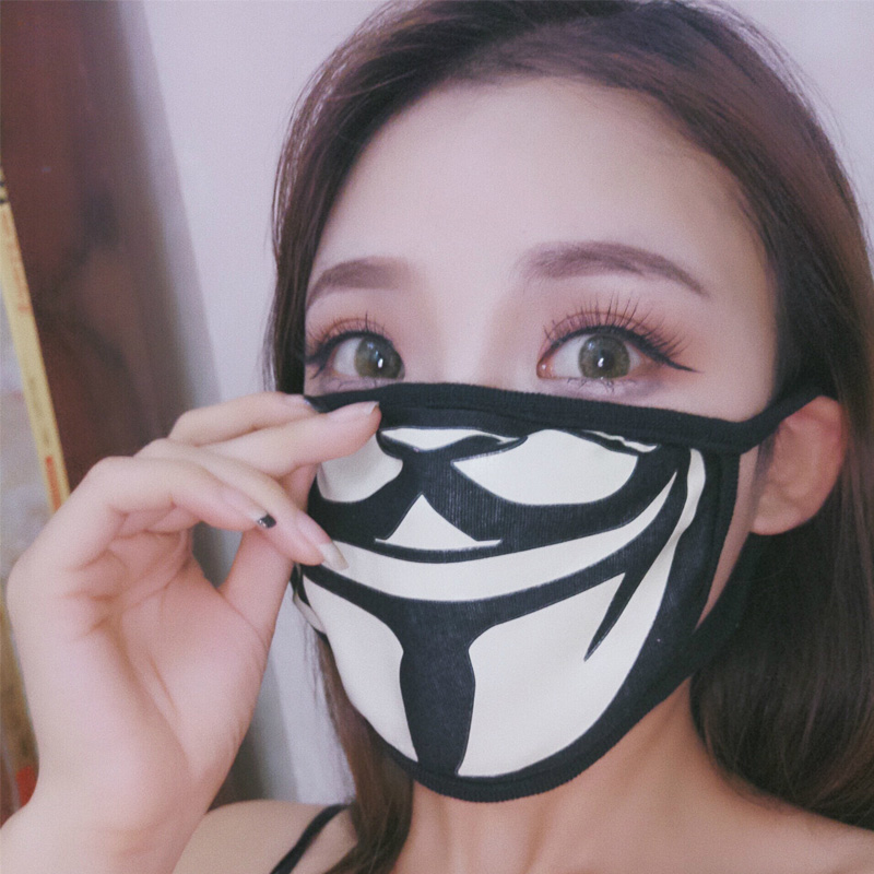 Cotton Dust Mask Unisex Skull Bicycle Ski Dustproof Face Protection Health Care