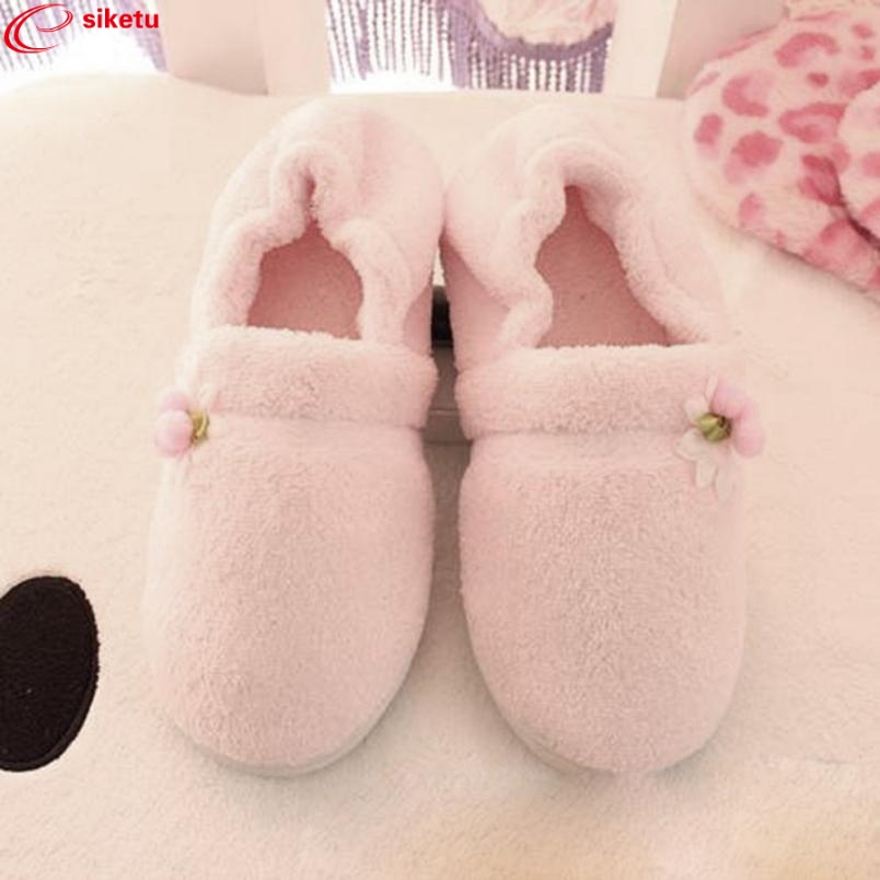 цены  Charming Nice siketu Best Gift Hot Sale Women Home Flower All-inclusive Warm Pregnant Women Shoes Drop Shipping Y30