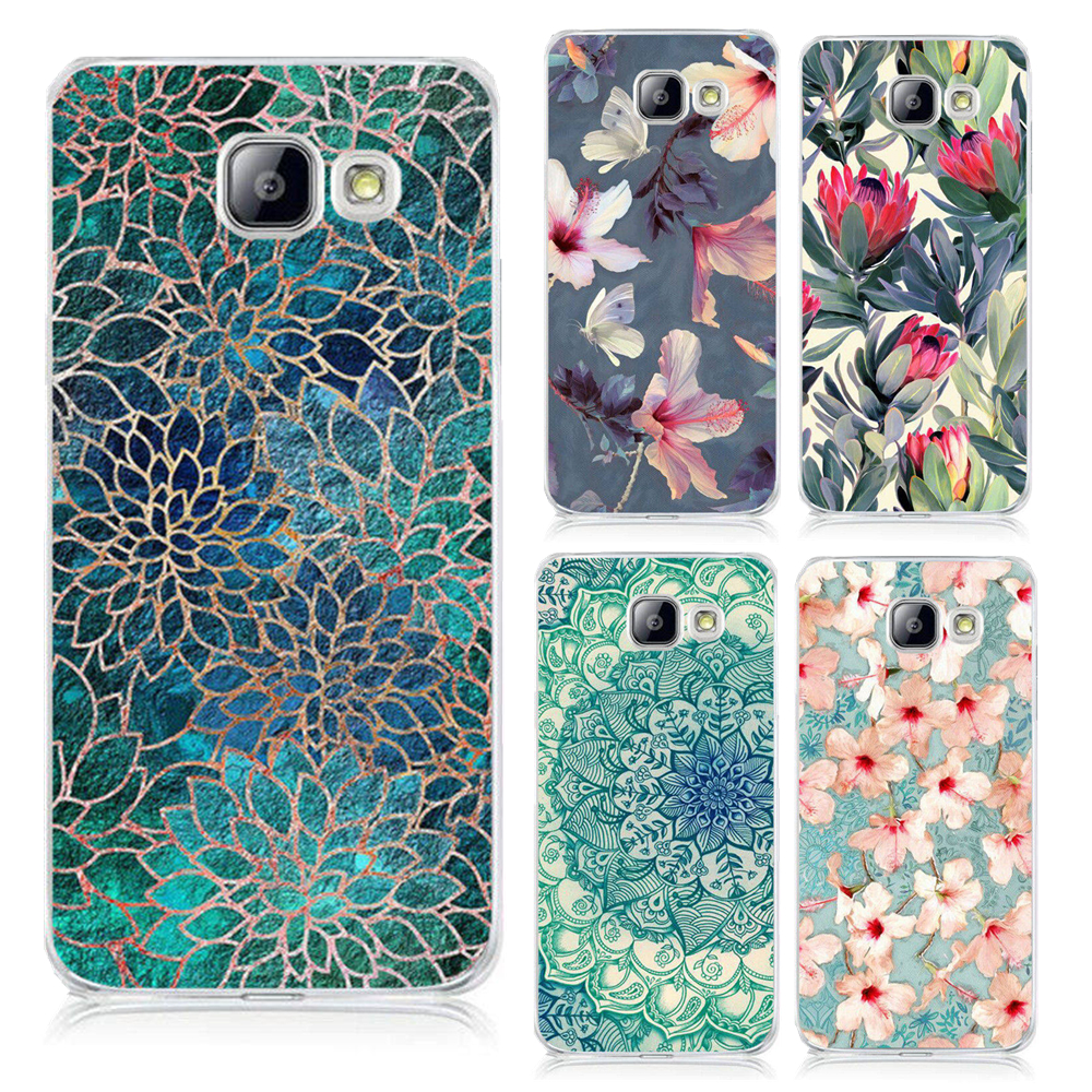 Beautiful Flower Colorfull Painted Hard Cover Case For Samsung A3 A5 A7 J1 J5 J7 2015 2016 2017 A310 A320 A510 A520 Shell Coque