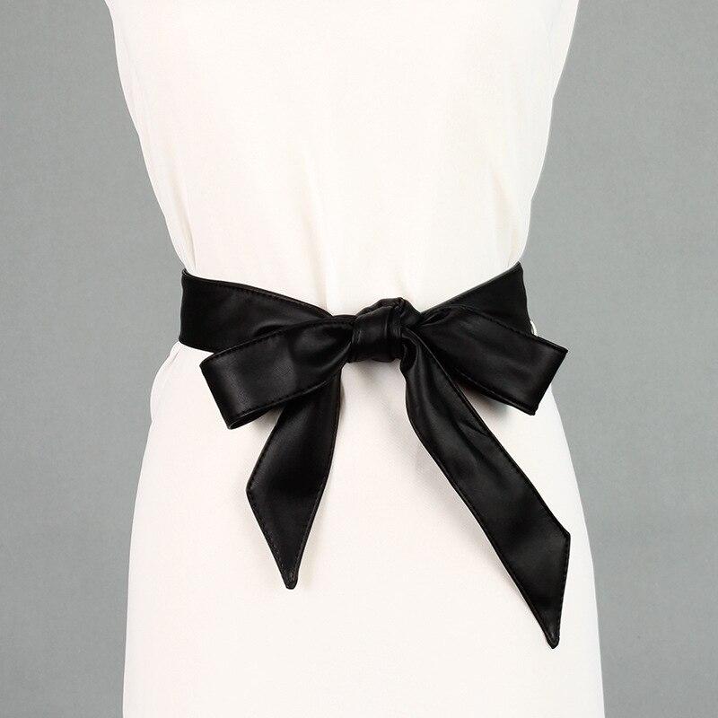 2018 New Black Red White Wide Waistband Corset   Belt   Female Obi Style Bowknot   Belts   for Women Dresses Cummerbund Ceinture Femme