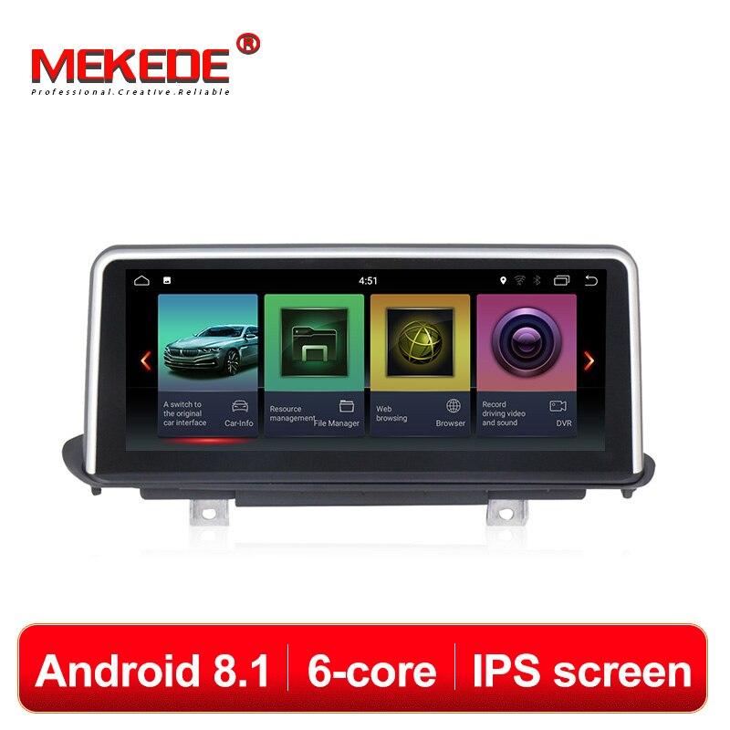 MEKEDE 6 Core Android 8.1 10.25 ''IPS écran Lecteur Multimédia De Voiture DVD GPS Navigation Pour BMW X5 F15 2014-2017 NBT système 4G Lte