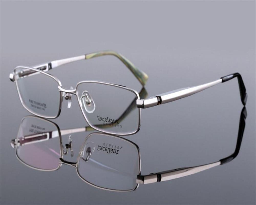 Glorious Business Design Men Vintage Full Rim Pure Titanium Super Light Gold Silver Brand Design Optical Myopia Eyeglasses Zjh81133 Men's Eyewear Frames