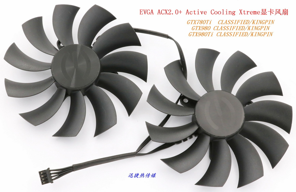 New Original MSI PLD10015B12H 12V 0.55A EVGA GTX780Ti 980Ti CLASSIFIED / KINGPIN ACX2.0 + graphics card cooling fan computador cooling fan replacement for msi twin frozr ii r7770 hd 7770 n460 n560 gtx graphics video card fans pld08010s12hh