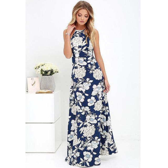 f6e960941e0de US $10.72 36% OFF|Aliexpress.com : Buy 5XL Plus Size Maxi Dress Women  Summer Dress 2019 Slip Dress Floral Print Sleeveless Beach Holiday Bohemian  Robe ...