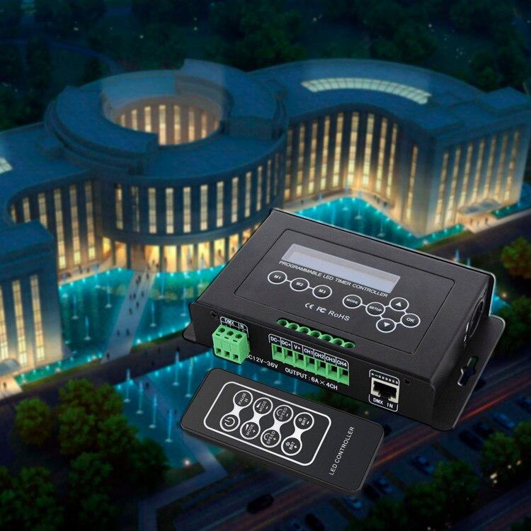 BC 300 DC12V 36V Time programmable led dimmer RGB RGBW Strip Light Controller programmable Timer Light DMX 512 Controller - 2